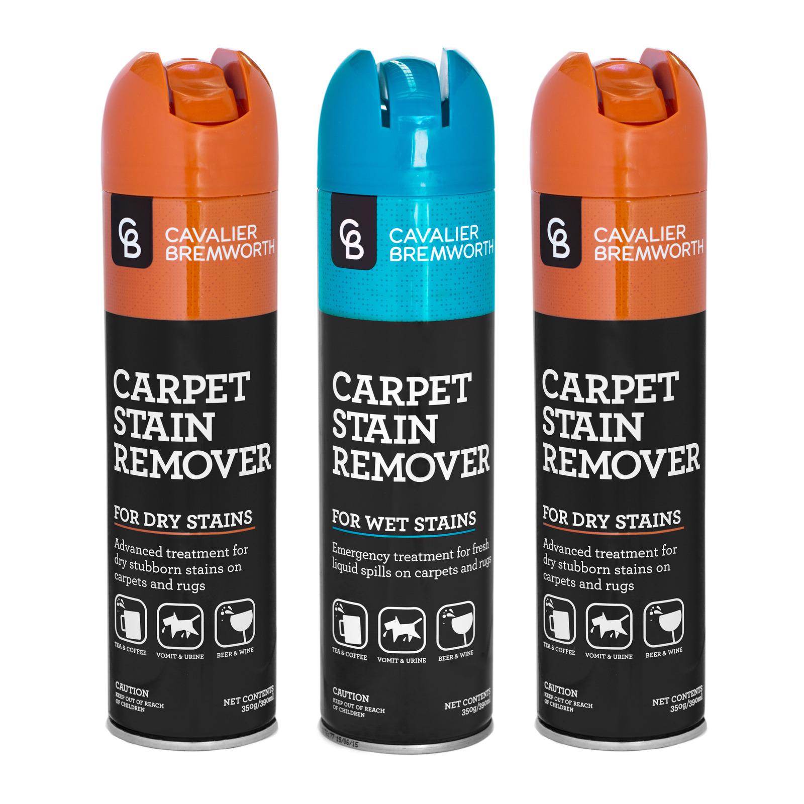 ecomist systems pty ltd pack of 3 carpet stain remover 2 dry 1 wet